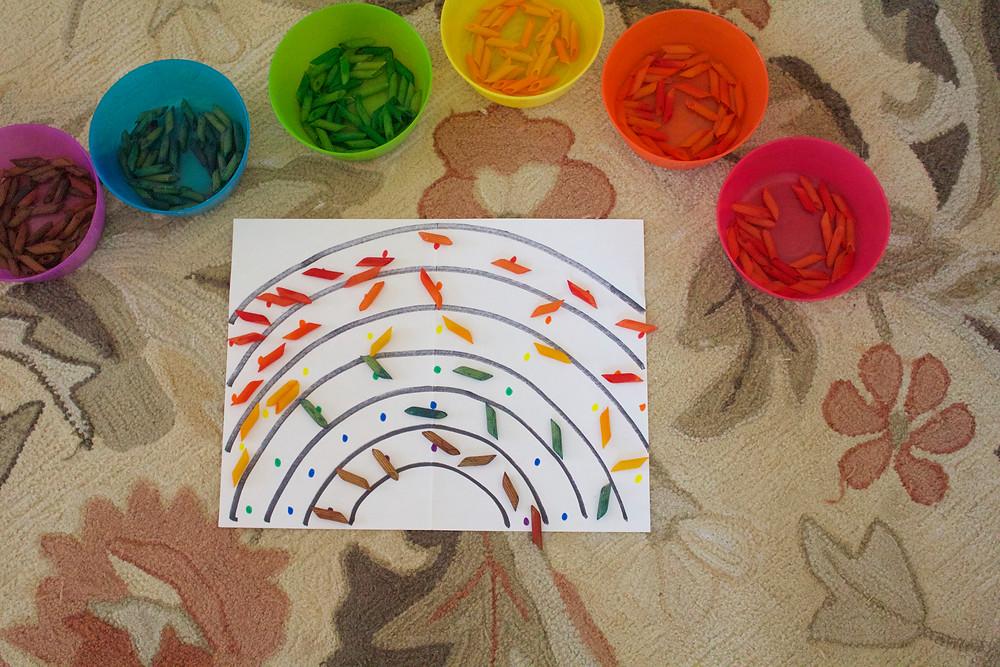 Blue Sky Daycare home daycare child's process art