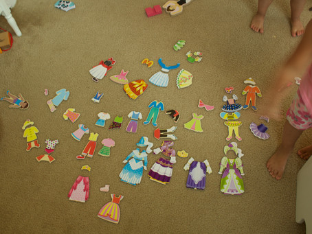 Dress-up Dolls, Pretend Sleepovers, and Kite Flying...