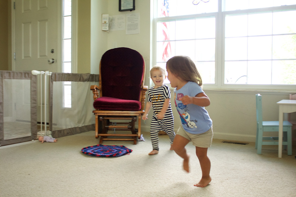 Blue Sky Daycare home daycare children have a blast building gross motor skills