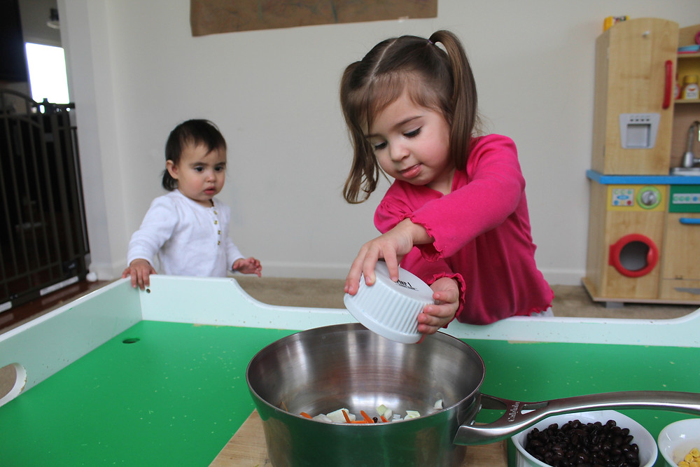 Blue Sky Daycare home daycare children cooking chili