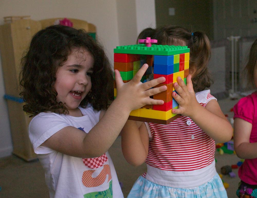 Lego fun at Blue Sky Daycare home dayare