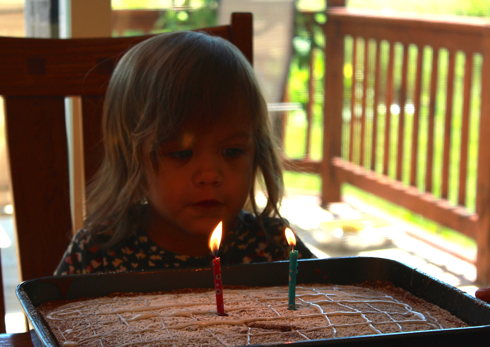 A Blue Sky Daycare home daycare child celebrates her birthday