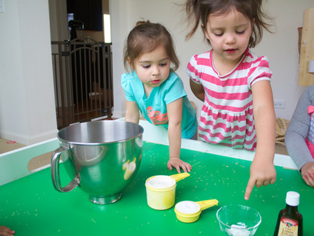 Circle Time, Baskets, and Easter Play Dough Three Ways...