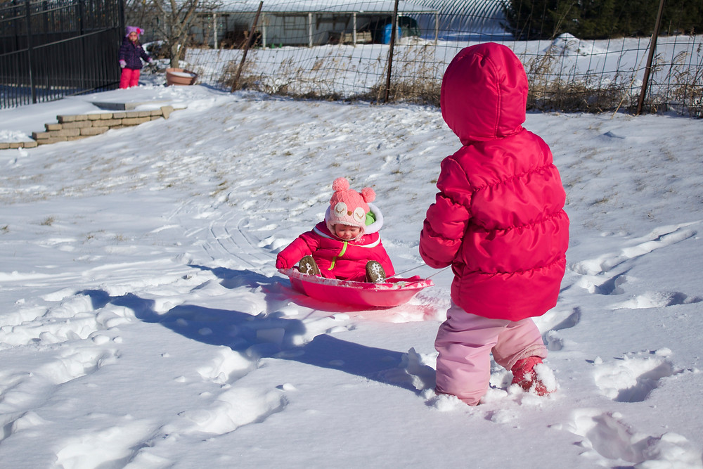 Blue Sky Daycare home daycare children enjoying outdoor play