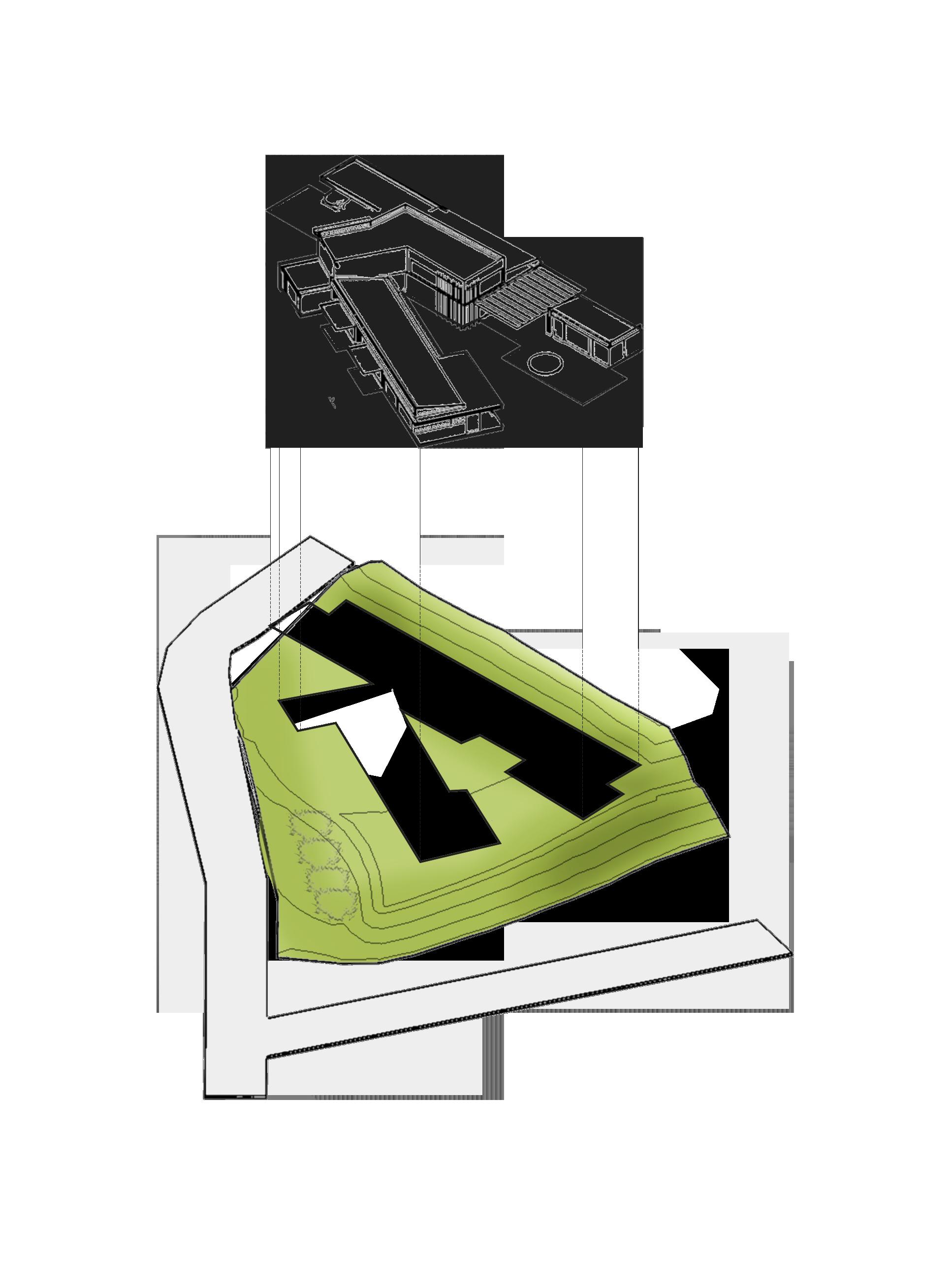 Esquema implantacion casa soto