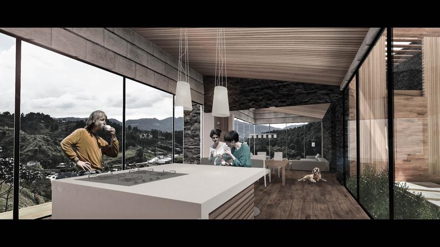 Casa Taborda Ocampo_Render interior_Fina