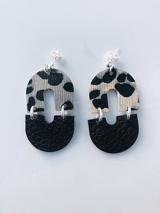 Wild Side Leather Earrings