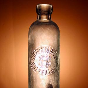 Glass beer bottle, 1890