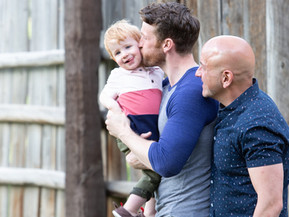 PRIDE SERIES: CLAYBOURNE ELDER and ERIC ROSEN On Marriage, Having a Child, What Pride Means to Them,
