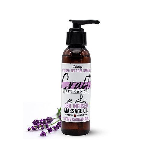 Lavender Tea Tree Bergamot - CBD Infused Massage Oil 500mg