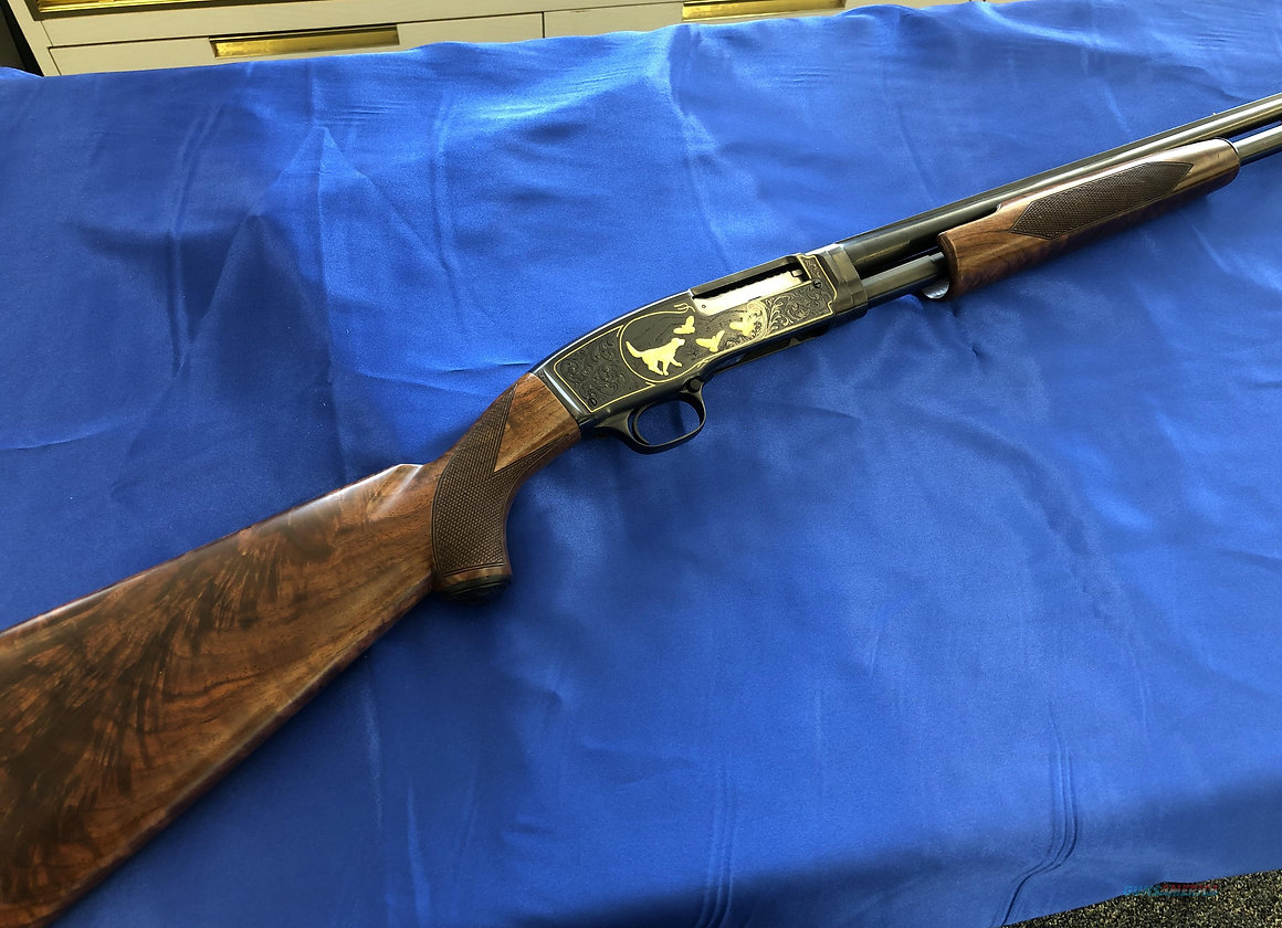Pre Owned Winchester Model 42 Deluxe Grade Solid Rib 410 Shotgun