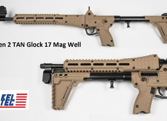 Kel-Tec Sub 2000 (Tan) 9mm w/ 17 Round Mag (Uses Glock Mags)
