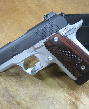 Kimber Micro 9 Two-Tone 9mm w/ Rosewood Grips and 7 Round Mag