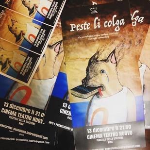 PESTE LI COLGA, uno spettacolo di PesoPiuma Teatro