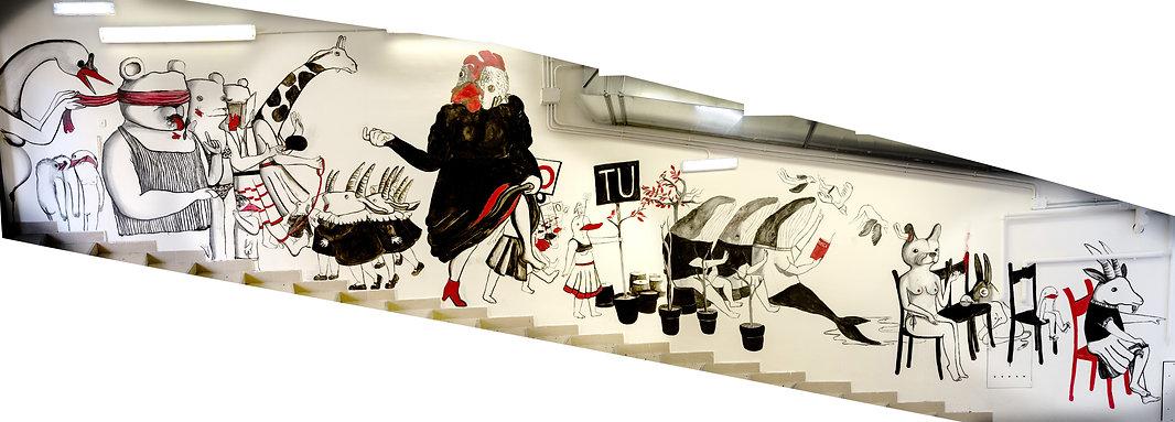 Allegoria dell'Altrove (Left wall)
