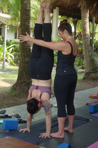 Playing with handstand