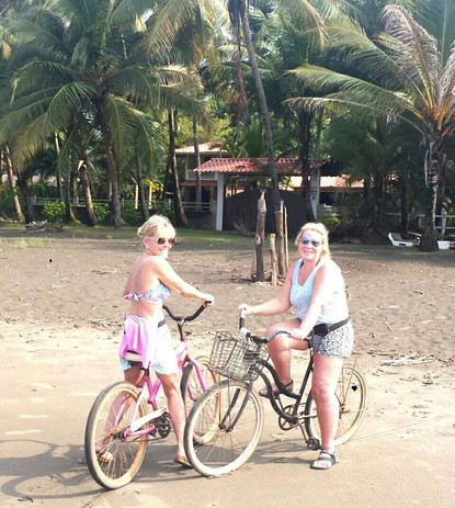 Bike ride on the beach