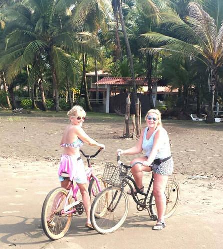 Bike ride on the beach