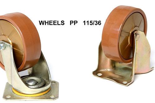 Set 4 wielen PP (polyprop)