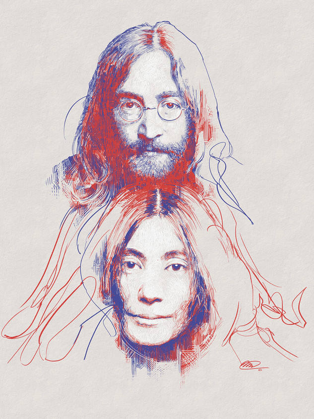 Yoko and John... after Lennon