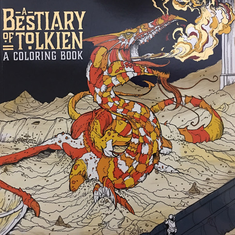 A Bestiary Of Tolkien - a coloring book
