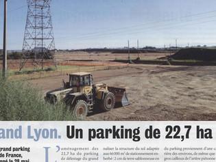 Grand Lyon, un parking de 22,7 ha en vue de l'euro 2016