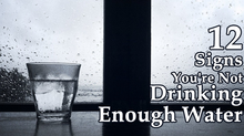 12 important signs that we don't drink enough water