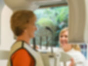 Patient in CBCT scanner