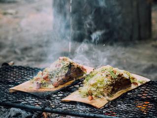 Alfresco Cooking Over An Open Fire