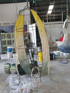 Creating the bespoke beaded lamp