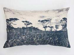 Velt blue bespoke cushion