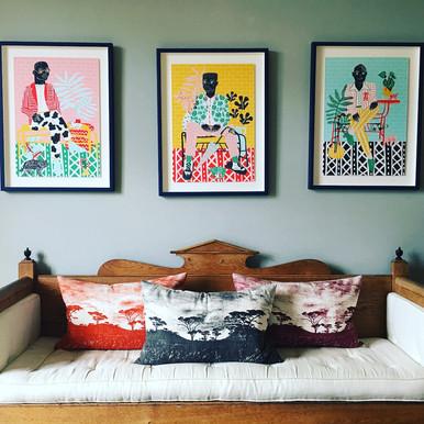 Camilla Perkins & Veld Fabric Cushions