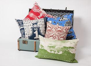 Bespoke Bold Fabrics on Cushions