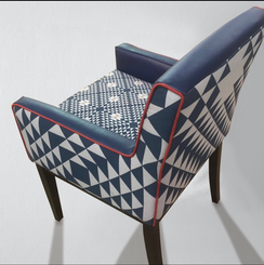 Bespoke Blue and White Chair