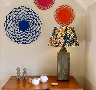 Baskets, Lampshade all bespoke and bespoke ceramics