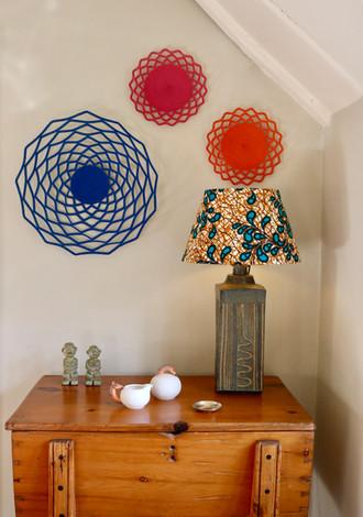 Bespoke Lampshade with Basket Wall Hangings