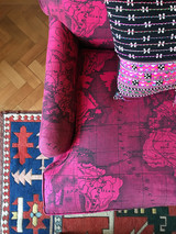 Pink Africa Upholstered Sofa
