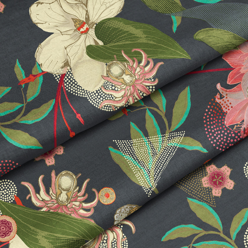 Floral Upholstery and Curtain Fabrics