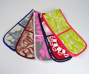 Fun Colourful Oven Gloves made in South African