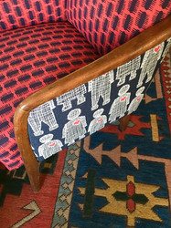 Love Doll & Comb fabric bespoke chairs