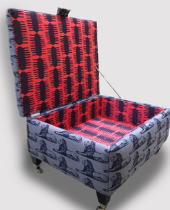 Bespoke Upholstery in Lion and Comb