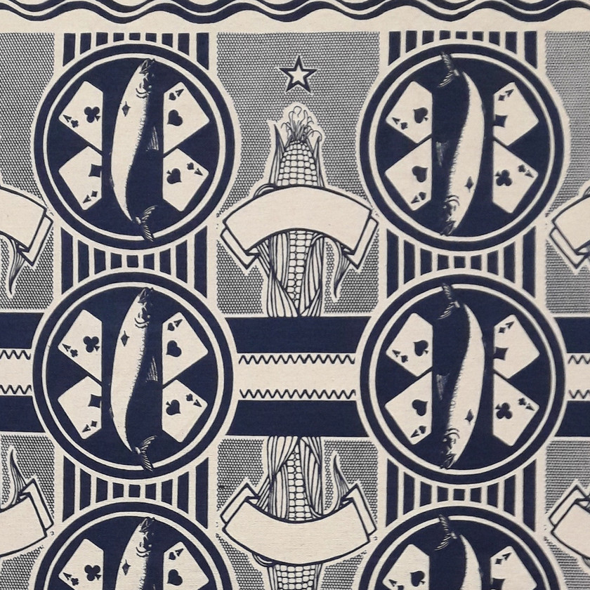 Four Aces Navy Fabric
