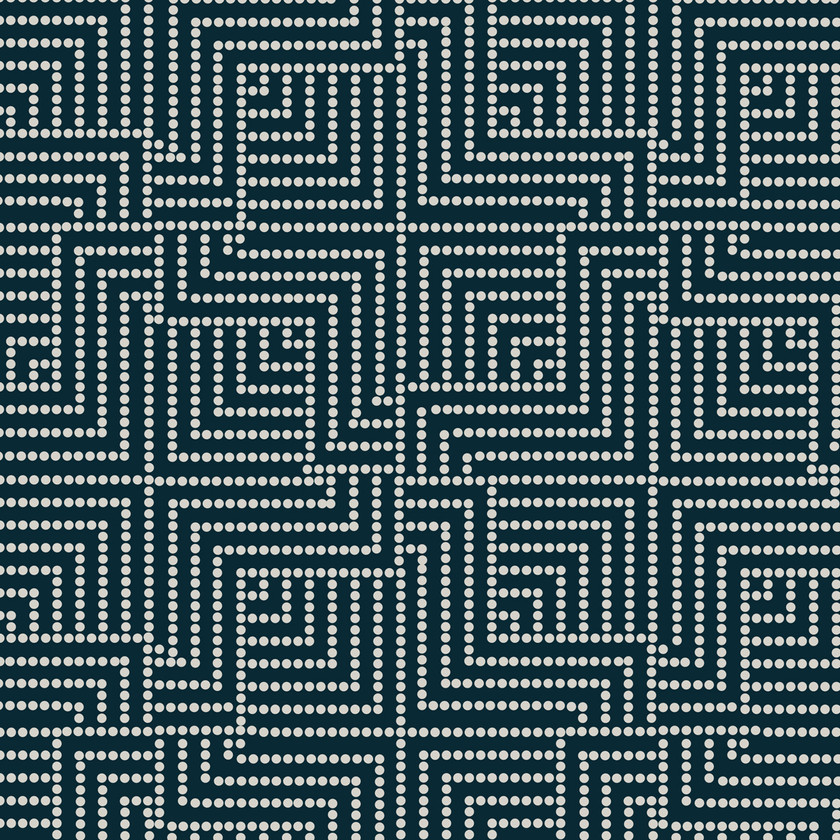 Maze Fabric on Navy