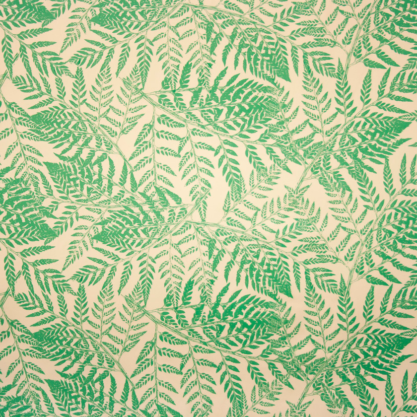 Green Fern Fabric for Curtains and Upholstery