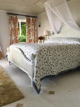 Leaf, Botanical Fabric on bedspread