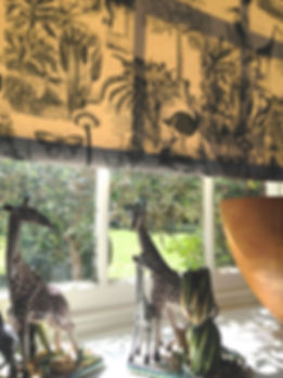 African Jungle Roller Blind indigo on co