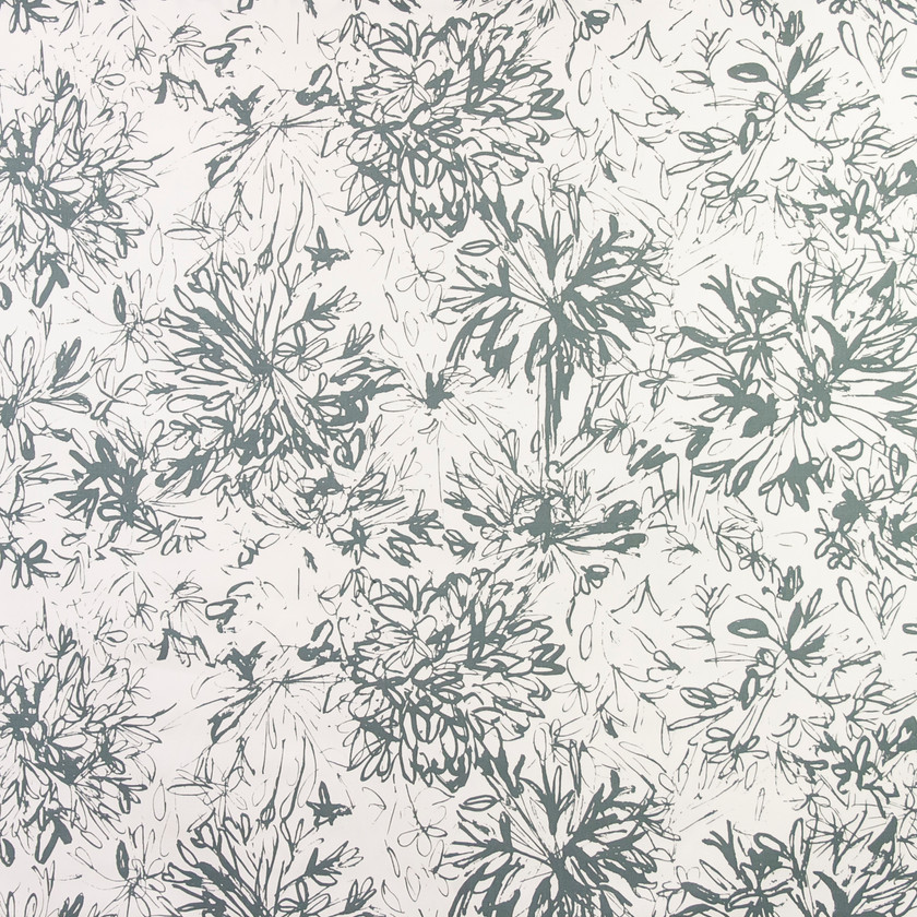 Floral Green Fabric for Curtains and Upholstery