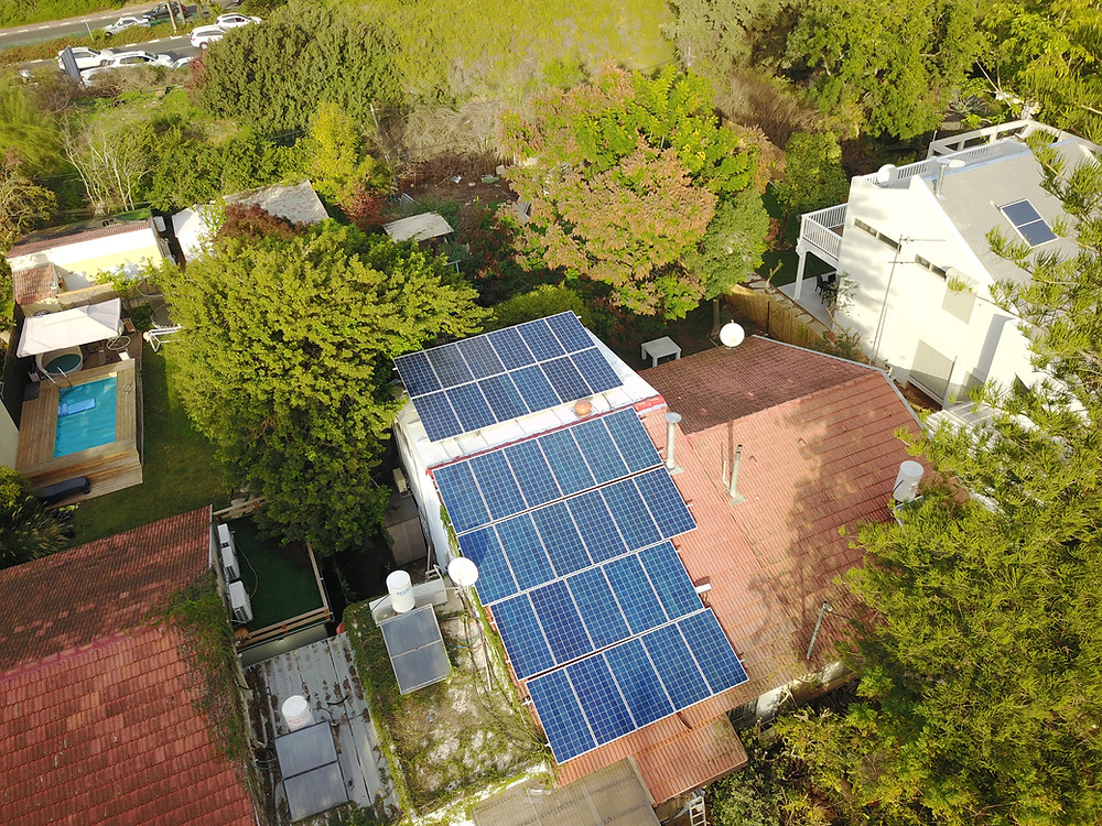 מערכת סולארית 10 קילו-וואט ברמת גן