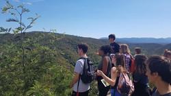 Sortie nature avec des lycéens