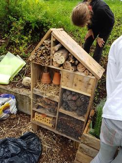 Installation d'hôtels à insectes